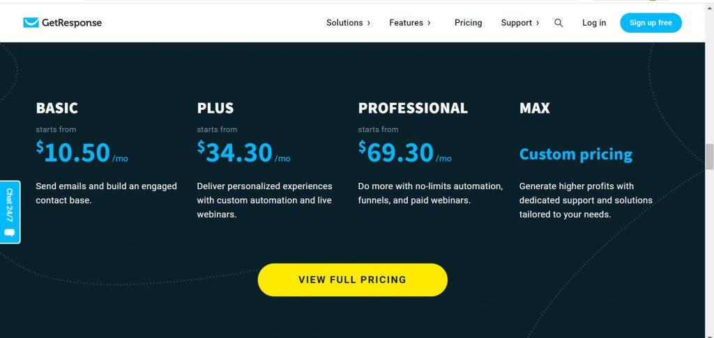 GetResponse-Review-GetResponse-Pricing